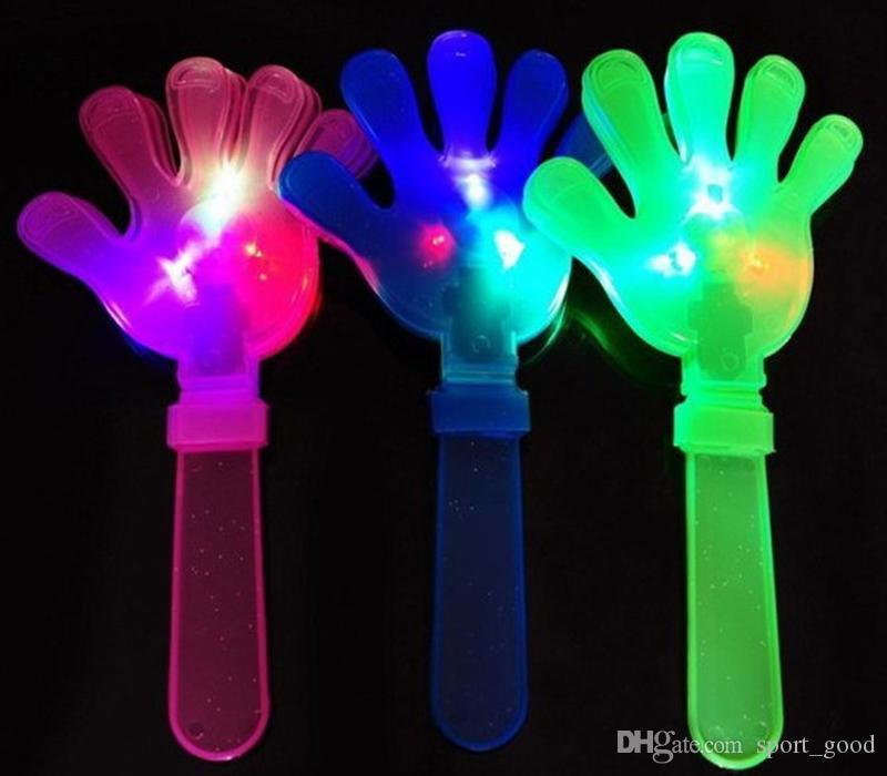 New Clap Your Hands LED piscando Toy Musical Light Up Agite Toy Bar KTV festa consoladora Brilho Props Suprimentos Cheerleading Mão Clapper