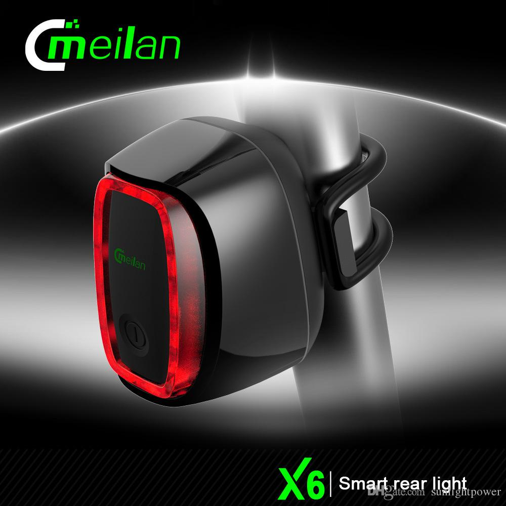 Meilan Smart Bicycle Rear Light Bike Cycling Tail Lamp 16 Led