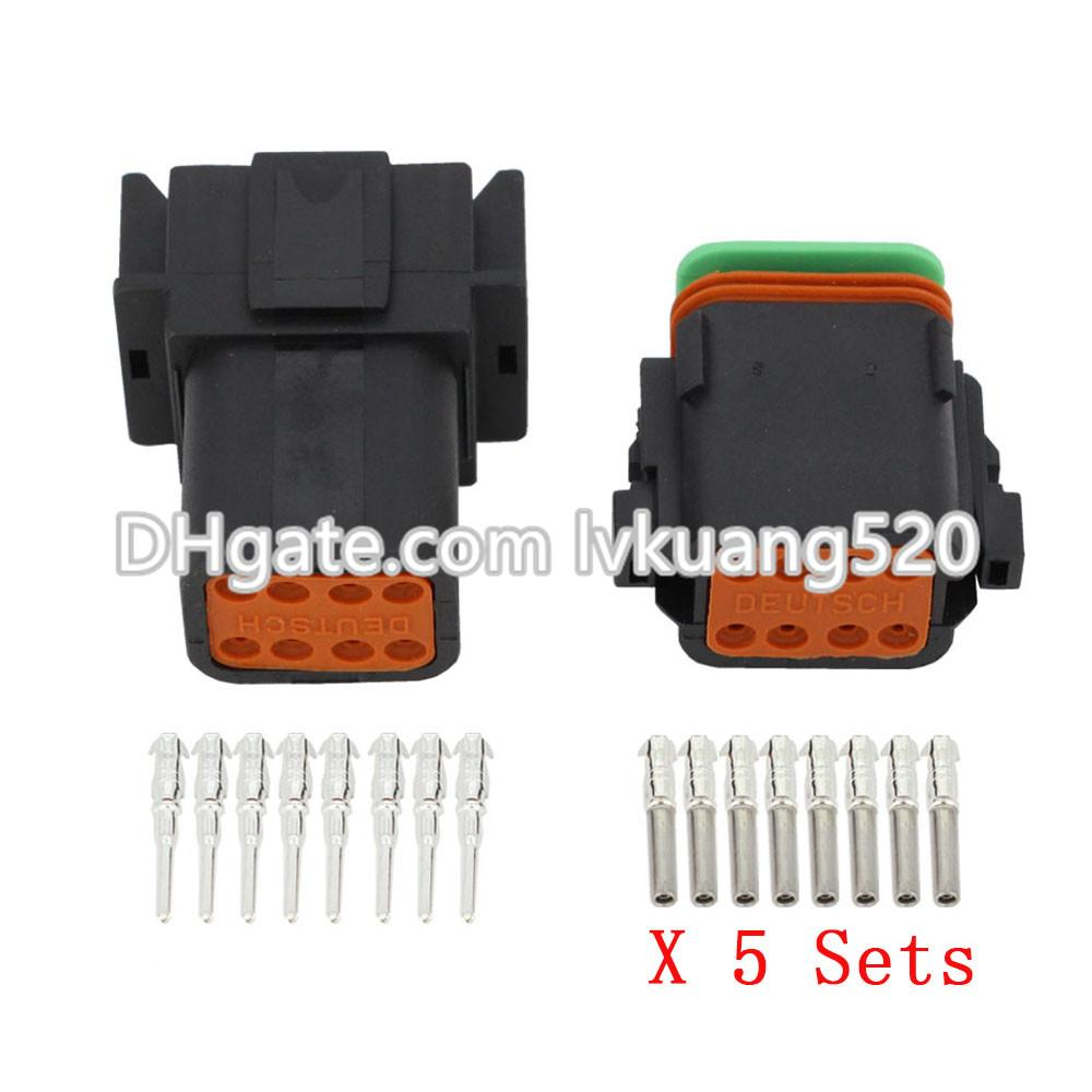 e0c1e20433d540 2019 Black 8 Pin DT04 8P DT06 8S Automobile Waterproof Wire Electrical  Deutsch Connector Plug From Lvkuang520