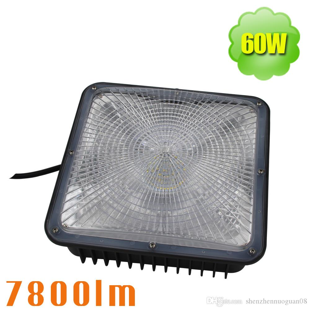60w Led Canopy Lowbay Ceiling Light Fixture Replace 250w Metal Overhead Wiring Halide Warehouse Garage 5000k 277v Flood Lights Outdoor Garden Wall From
