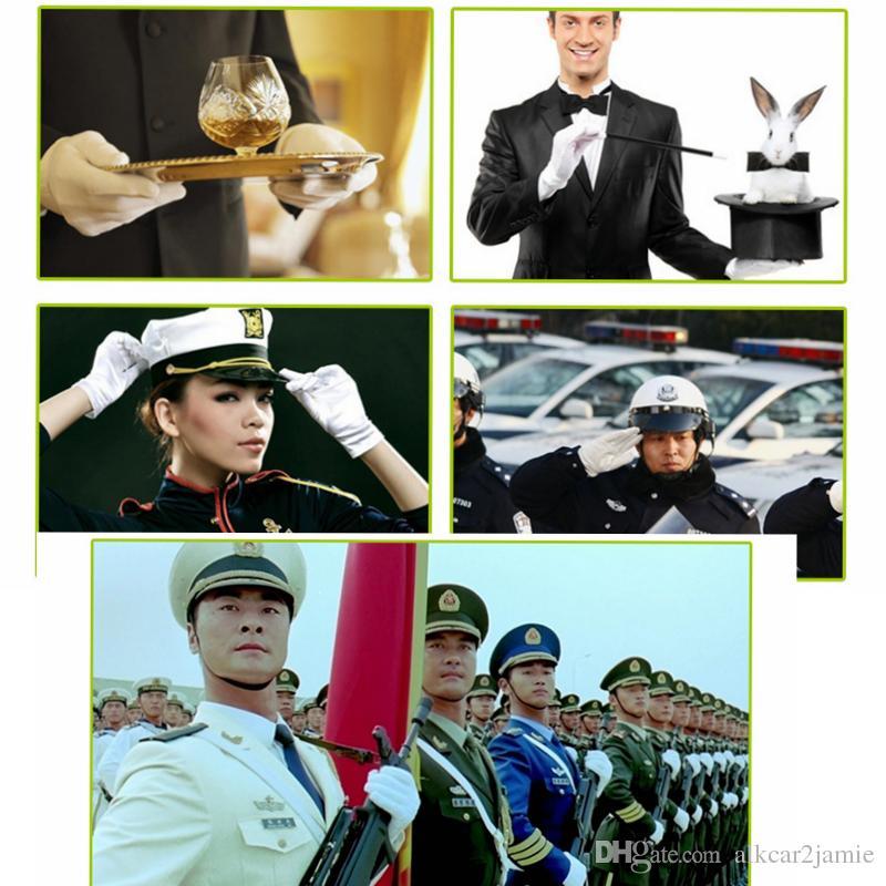 Three Rib White Etiquette Gloves Elastic Gloves White Formal Gloves Tuxedo Honor Guard Parade Santa Inspection Guantes Ceremonial