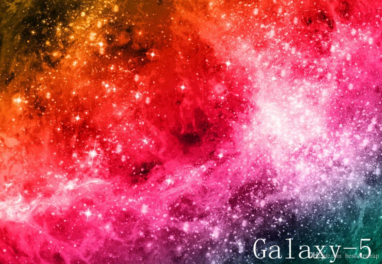 Caldo ! Galaxy Vinyl Wrap Stickerbomb Cielo stellato Vinile Car Wrap Film adesivo bomba decalcomania con bolla d'aria grafica gratuita foil 1.52X30M / Roll 5x98ft