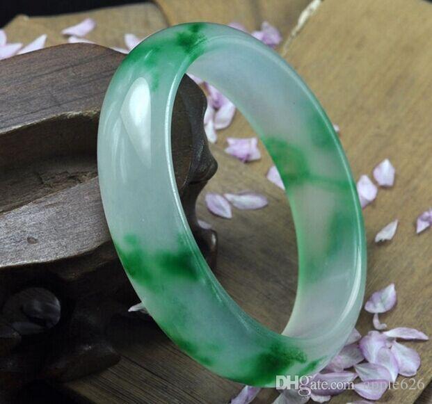Shopping gratuit! 2016 Mode Birmanie bracelet jade vague fleur bracelet jade pure naturelle bracelets de jade peut choisir la taille