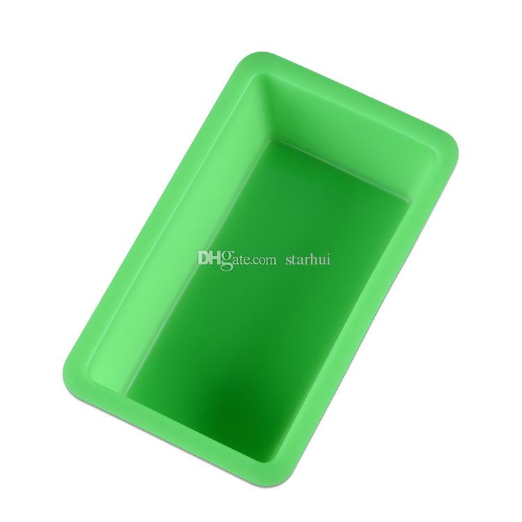 New Mini Silicone DIY Toast Box Mould Baking Tools Rectangular Cake Bread Plate Kitchen Baking Tools Heat Resisting Multi Colors WX9-100