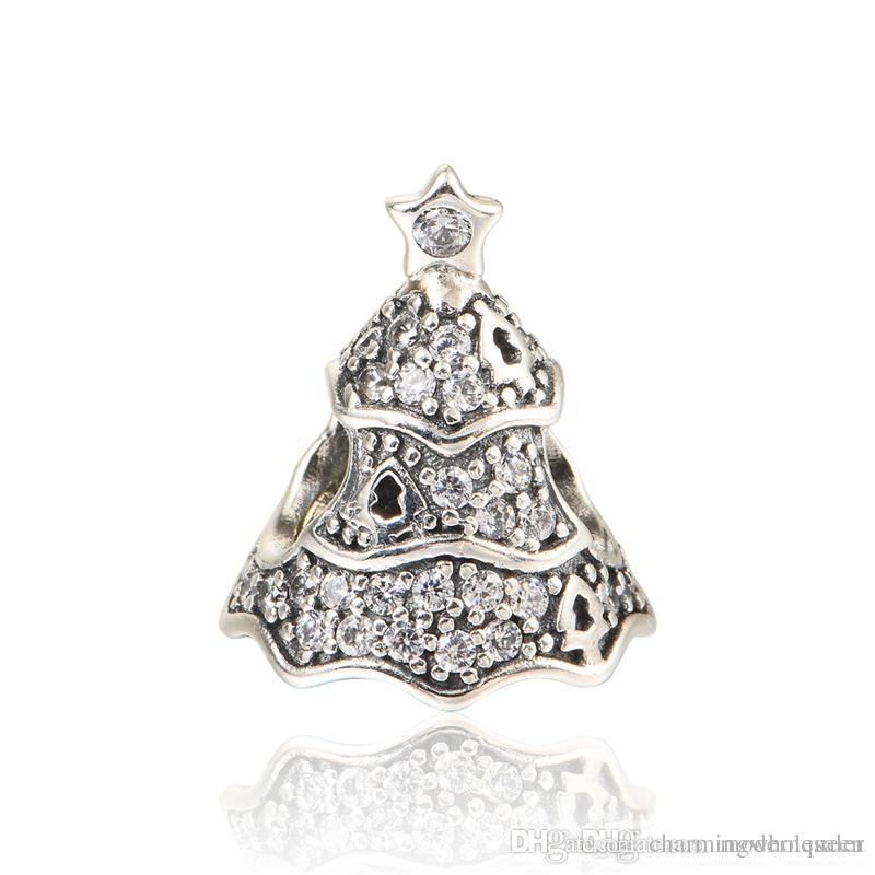 Christmas Tree Charms Beads Original S925 Sterling Silver Fits for Pandora  Style Bracelets AleCH659H9 Pandora Christmas Bead Pandora Christmas Tree  Pandora ... - Christmas Tree Charms Beads Original S925 Sterling Silver Fits For
