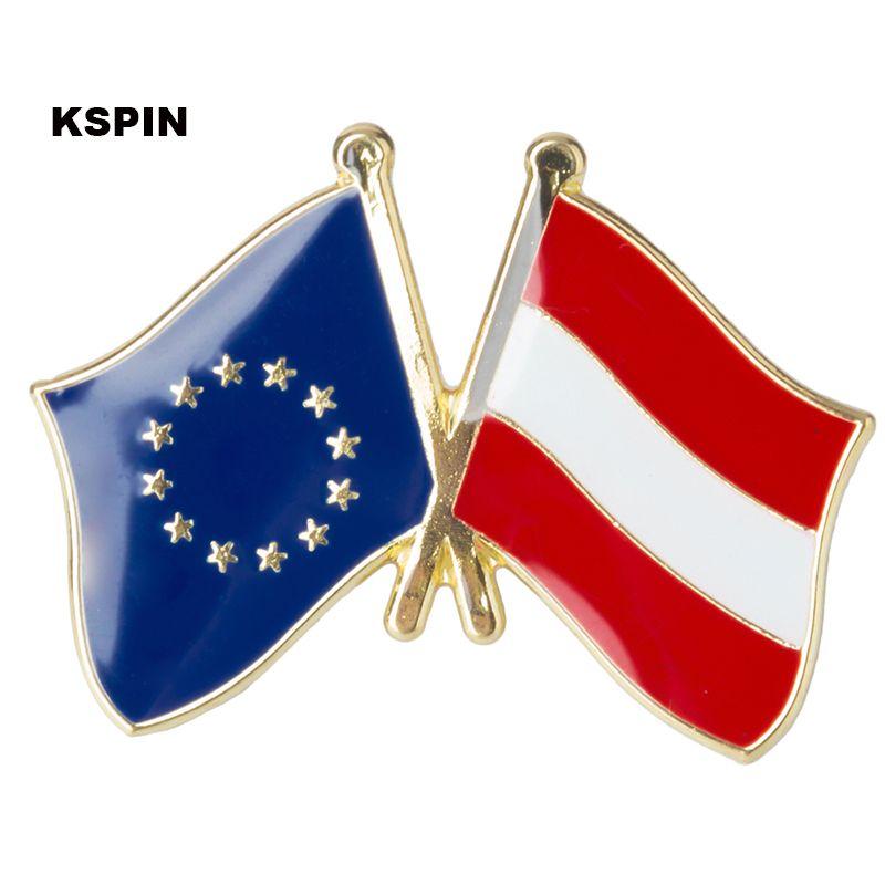 Bandeira europeia da amizade do emblema da bandeira da Dinamarca Pin XY0074-2
