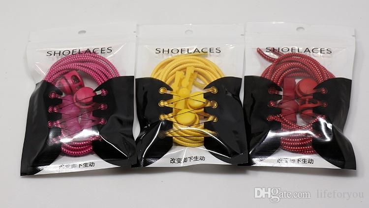lazy shoe laces locking shoelaces no tie shoe laces New creative elastic locked shoelace safety elastic lace, to choose