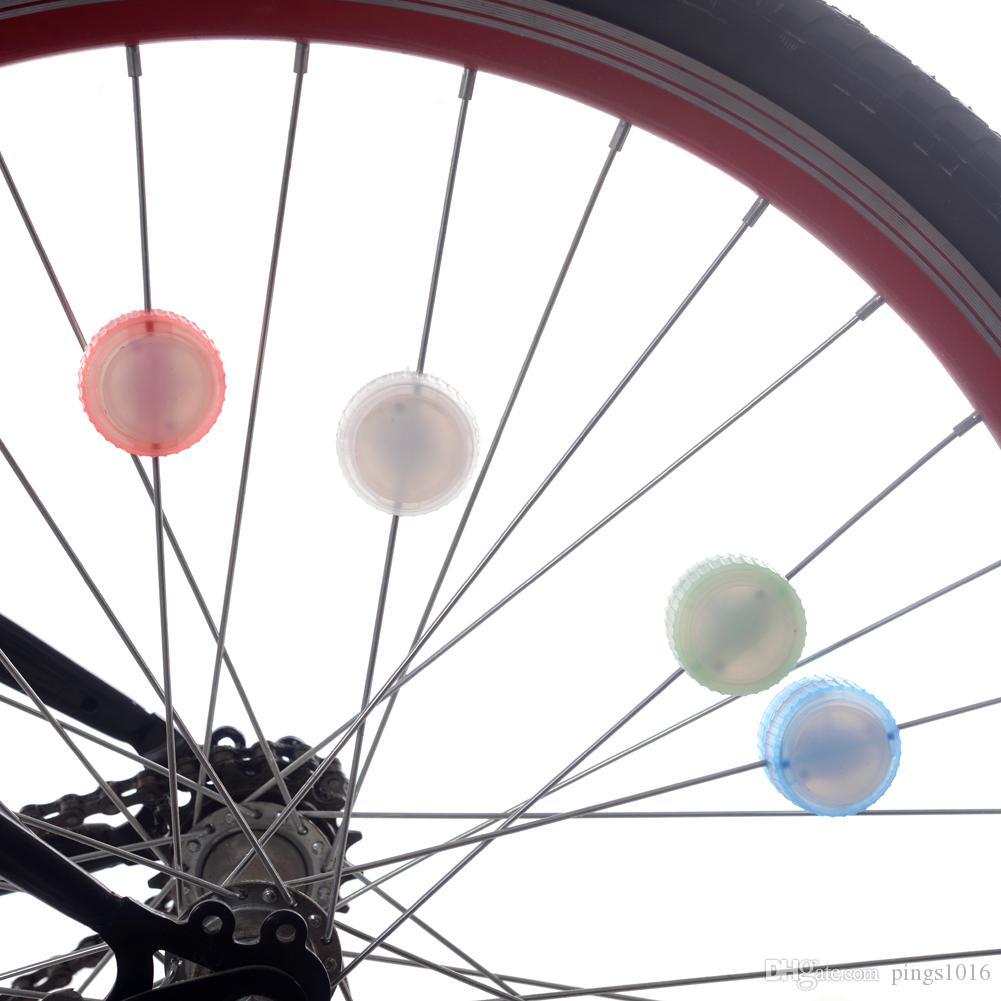Coloré vélo lampe vélo vélo imperméable à l'eau LED mode roue haute / flash a parlé lumières avec tournevis vert / rose / blanc / bleu