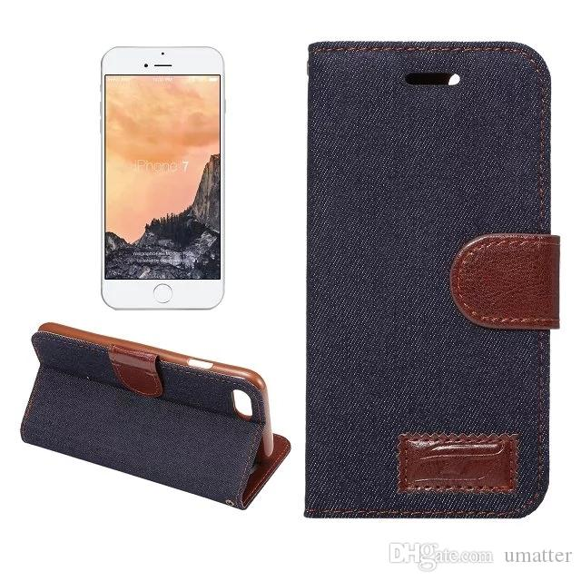 Jean PU leather Case for iphone 7/plus with Card Slot Holder Flip Wallet Cover for Samsung GALAXY Note 7 /UP