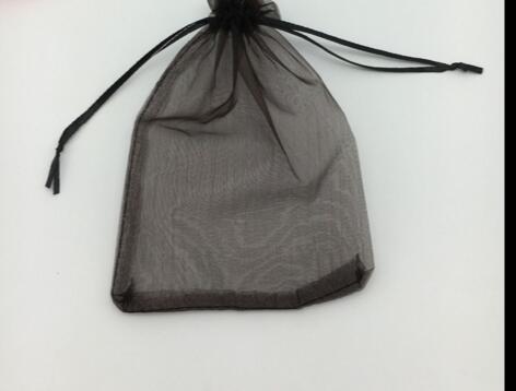 Moda 7x9cm Siyah Takı Hediye Kılıfı Parti Noel Hediye Çanta Siyah Düğün Organze Çantalar Düğün Favor Parti