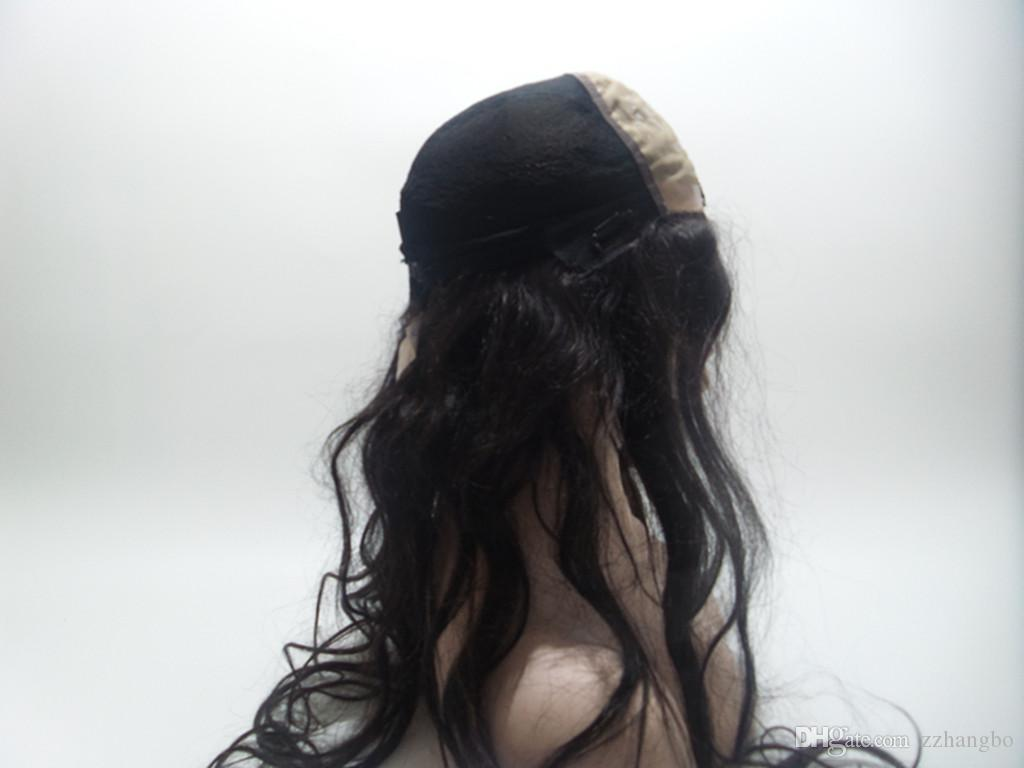High Density 150% Density Full Lace Wig Natural Virgin Color Unprocessed Peruvian 100% Human Hair Silk Straight Full Lace Wig Weave Kabell