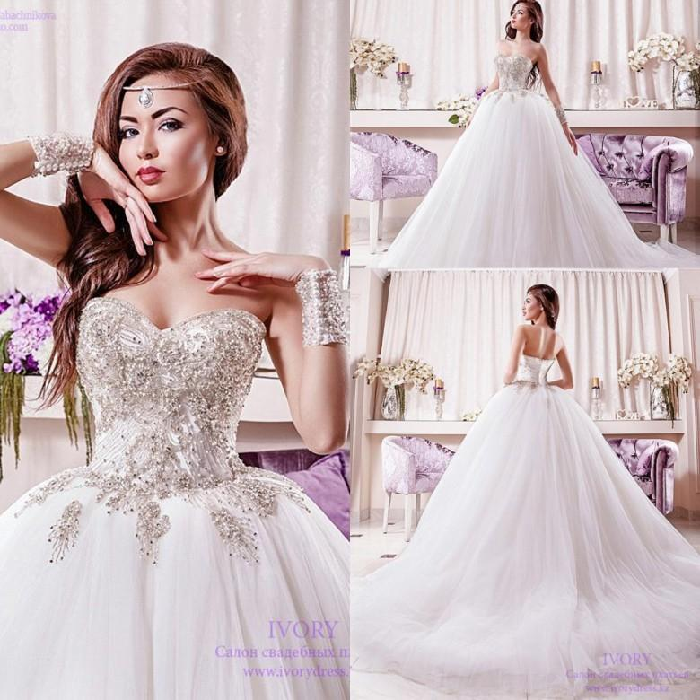 Luxury 2016 Sweetheart Empire Waist Ball Gown Wedding Dresses Major ...