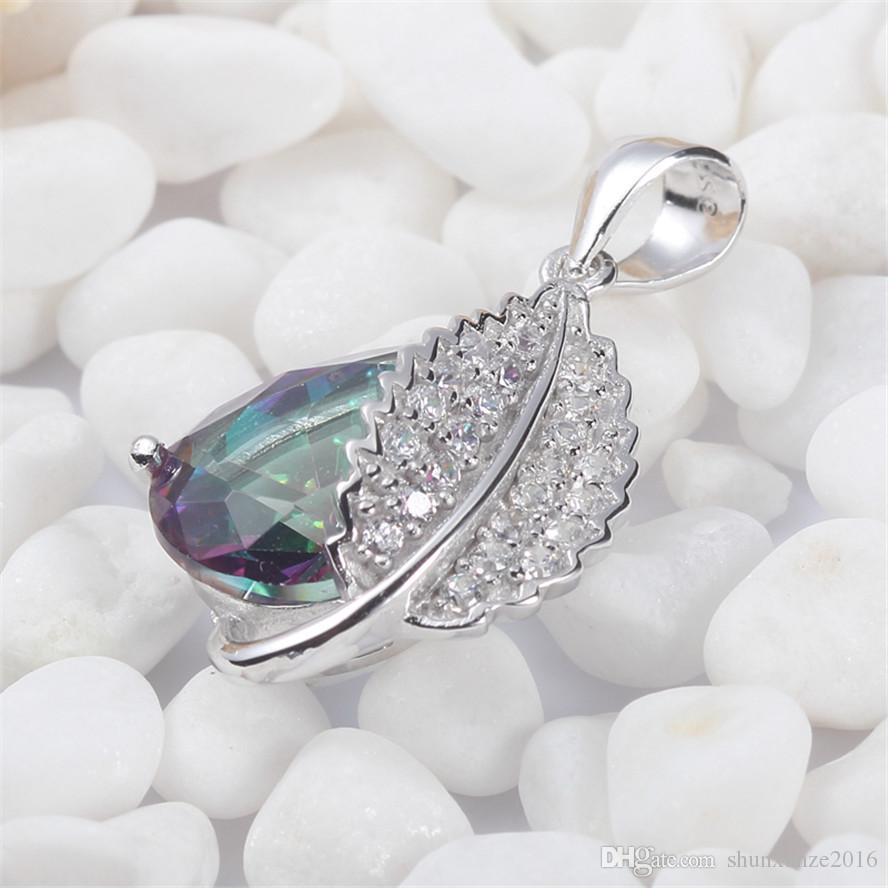925 sterling silver Fashion Pendants Shinning Noble Generous S-3728 Rainbow Fire Mystic Cubic Zirconia Favourite Best Sellers New Arrivals