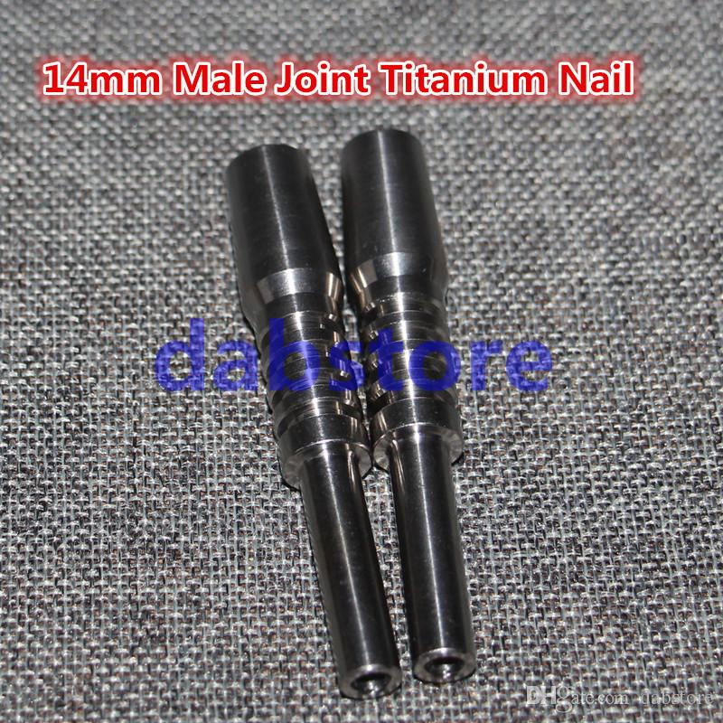 Domeless Titanium Nail Titanium GR2 Nails Male joint 14mm Glass bong water pipe glass pipes Universal and Convenient