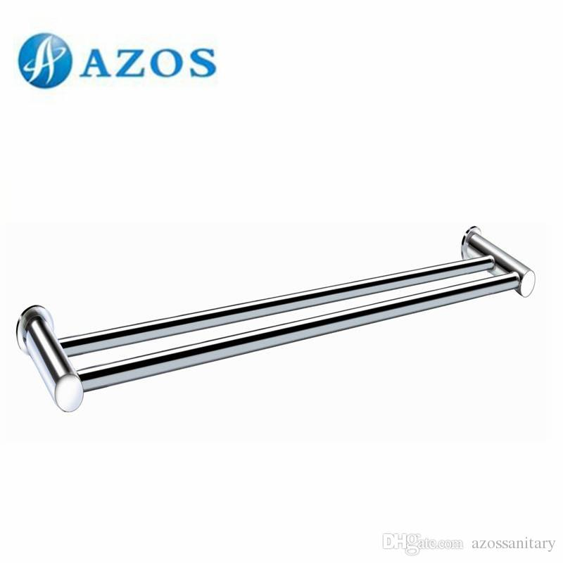 Best Azos Wall Mounted Two Towel Bars Toilet Accessories Bathroom