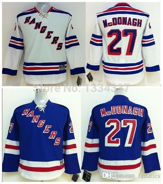 best service 2a284 c50e2 nhl jerseys new york rangers 27 ryan mcdonagh white jerseys