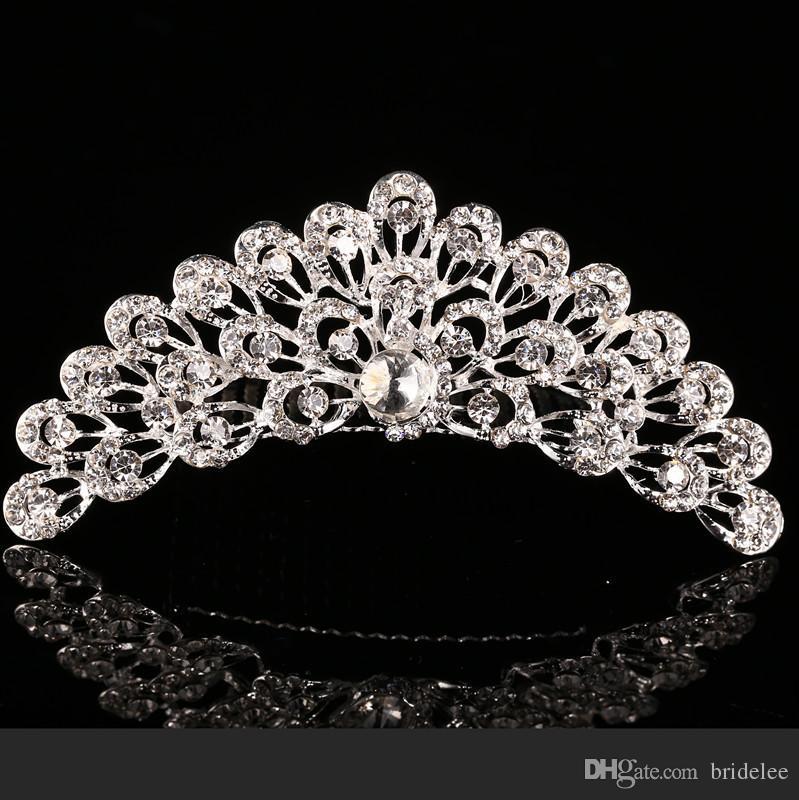 2021 Trendy 10 estilos más baratos Shining Rhinestone Crown Girls 'Novia Tiaras Fashion Crowns Accesorios nupciales para el evento de boda