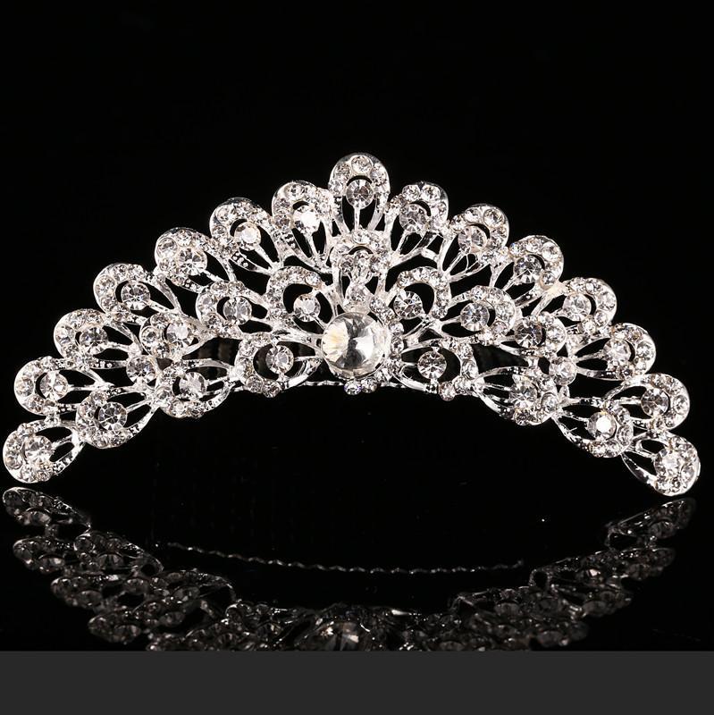 2021 Trendy 10 Stili Lovest Shining Rhinestone Crown Girls 'Bride Tiaderas Moda Corona Accessori da sposa eventi di nozze
