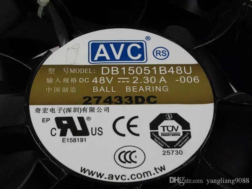 Envío gratis para AVC DB15051B48U, -006 DC 48V 2.30A 3 hilos 110mm 150x150x51mm Servidor Cooling Round fan