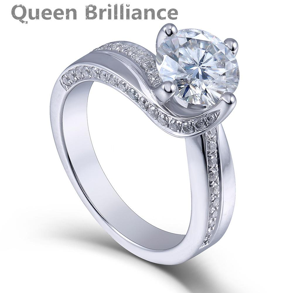 queen engagement ring women grown diamond plated sterling silver wedding product datai platinum brilliance jewelry online by cheap moissanite lab