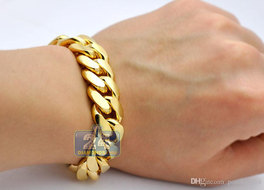 full hollow cuban miami gold yellow products bracelet
