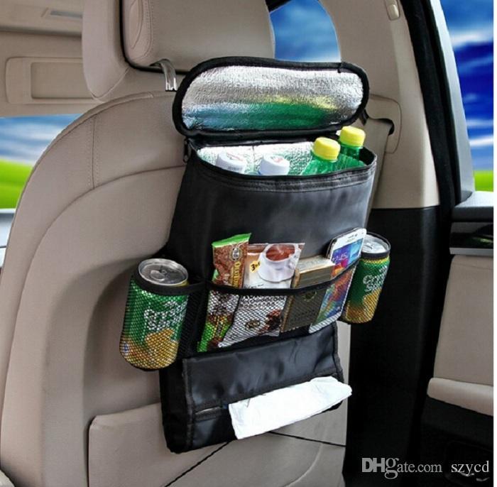Multi Functional Car Seat Cold StorageCar Headrest Organizer Holder Travel Storage Bag Keep Warm Box Auto Back Cargo