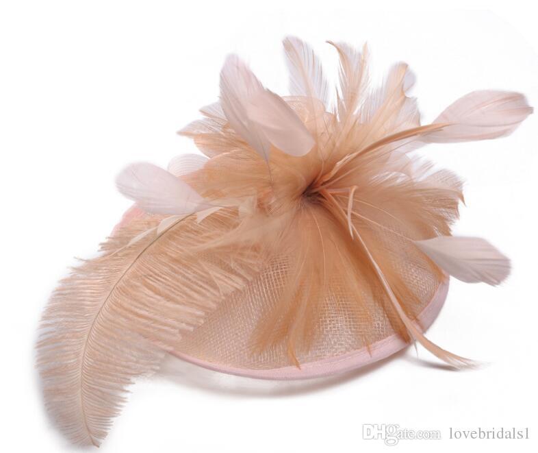 hot sale European ladies hat Ma yarn ostrich hair material Western banquet hat wedding headdress