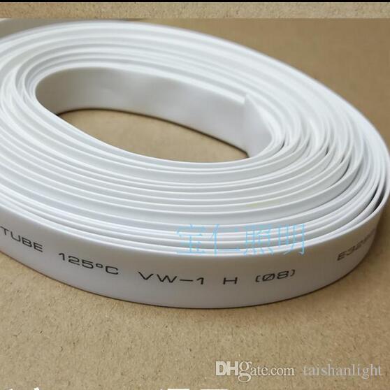 50M 블랙 열 수축 튜브에 대 한 8 / 10mm 3528 5050 LED 스트립 RGB 단일 색상