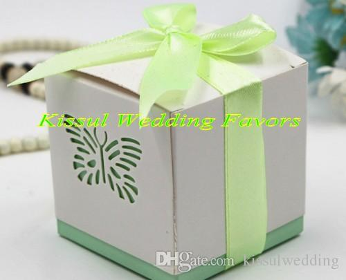 100 pezzi / lotto Farfalla Laser cut box box la decorazione della festa del compleanno Decorazione regalo e baby shower box box