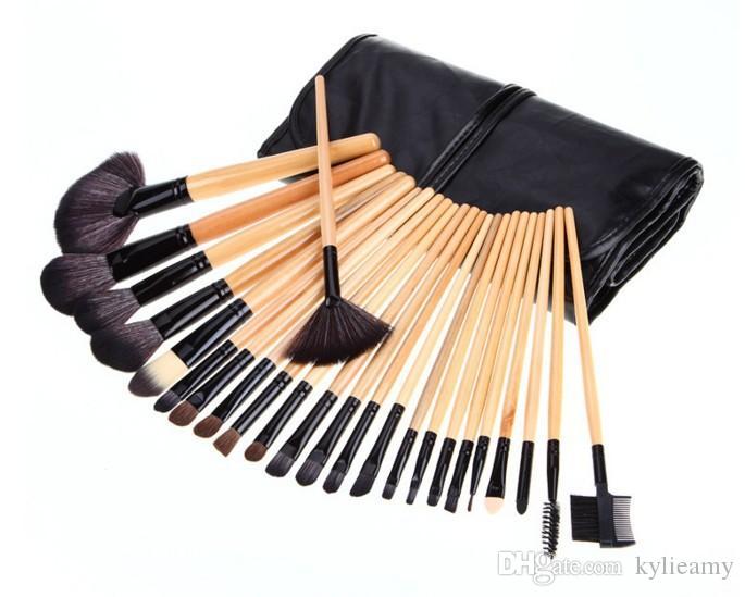 Nowy przedmiot 24 sztuk / zestaw kóz do makijażu do makijażu do makijażu makijaż szczotka narzędzia zestawy makijaż szczotki pełna szczotka kosmetyczna do powiek wargi pędzla