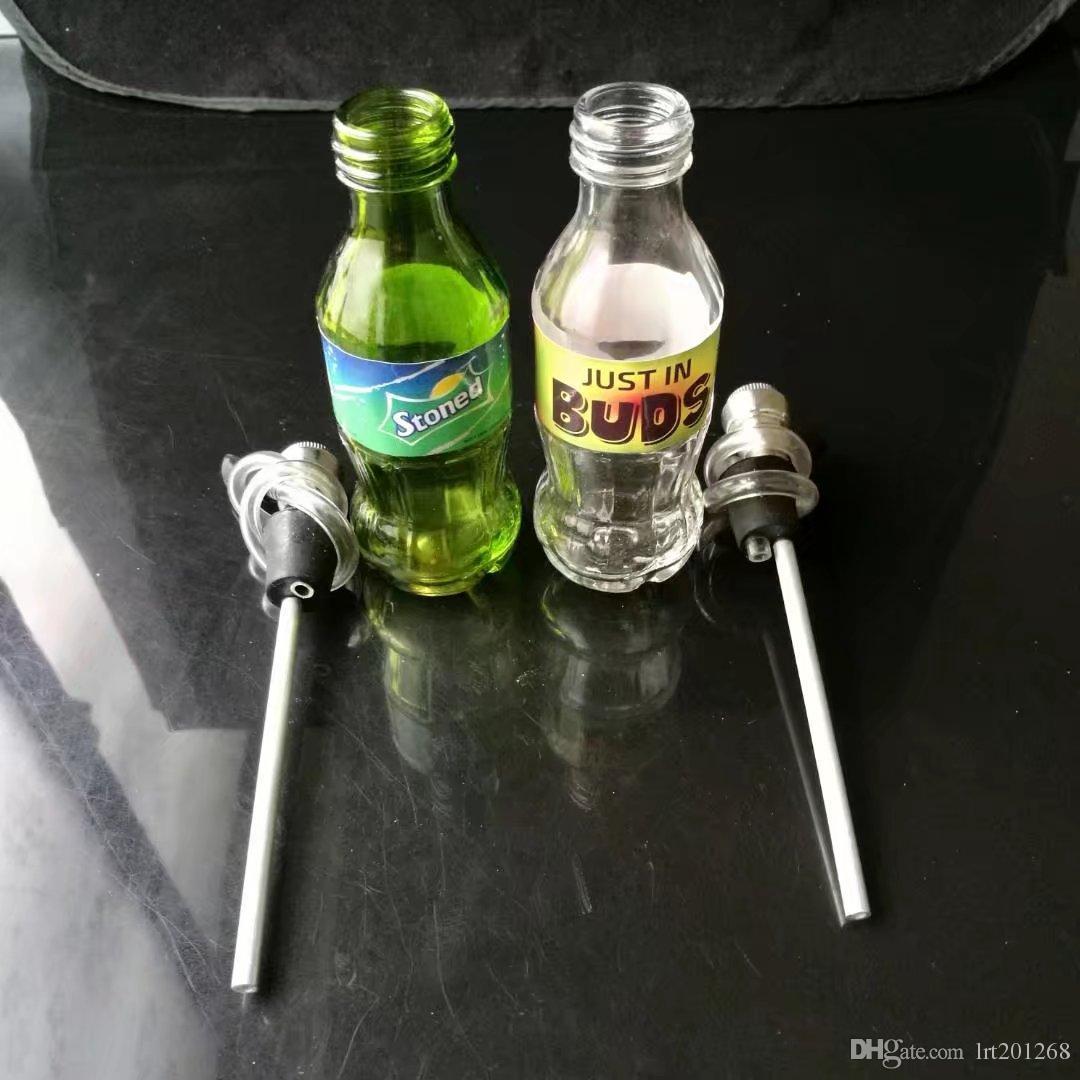 O novo Coca-Cola Sprite Vidro Hookah, Bongos de Vidro por atacado, Queimadores de Óleo de Vidro Tubos De Água, Acessórios Para Tubo de Fumaça
