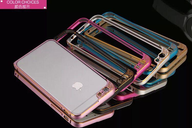 Retro Flower Bumper Mobile Accessories Luxury Arc Edge Frame Border Phone Case Pattern Metal Aluminium Bumper Cover For iPhone 6s 6splus