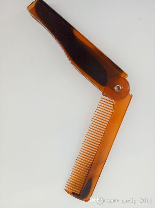 المحمولة للطي الشارب اللحية سكين مشط الشعر فرش البلاستيك فرشاة الشعر كومز للرجال أدوات العناية بالشعر