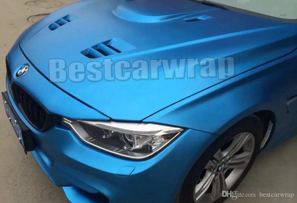 Titanium Blue Matte Metallic Viny For Car Wrapping Satin