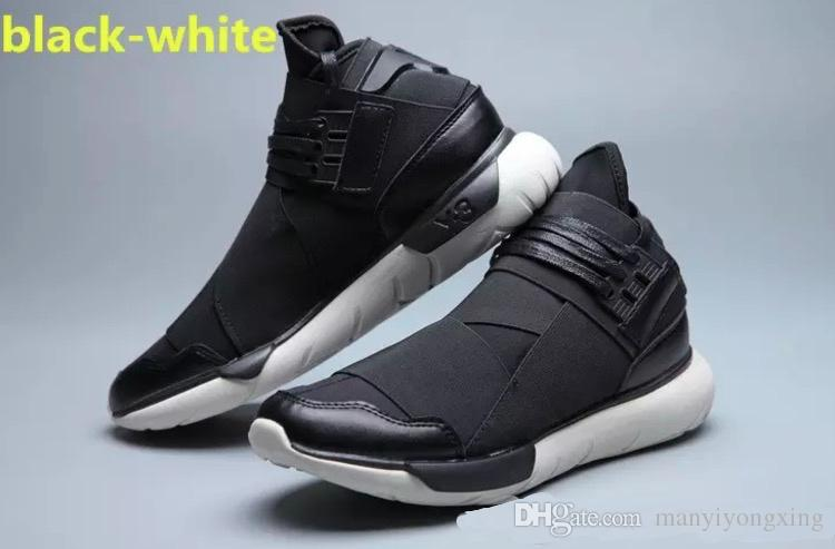 f948a54cef9f09 White Color Mens Y3 Qasa High Top Sneakers Good Quality Womens Shoe Unisex  Men Classic Y 3 Black Red Shoes Boots Size 36 45 Casual Shoes Mens Dress  Shoes ...
