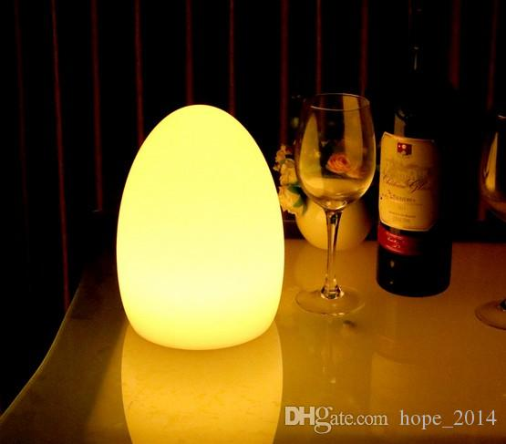Egg Shaped Table 2017 led remote control colorful egg shaped charge desk lamp table