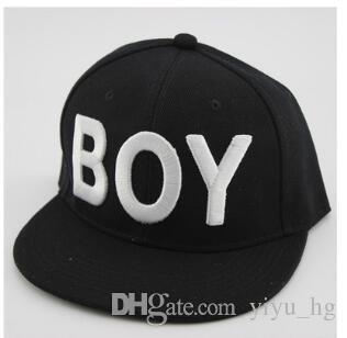 Boy LONDON Sombrero Snapback Gorras Hip Hop Boy LONDON Bordado Lovers Fitted Baseball Sombreros blancos y negros de calidad superior Accesorios de moda