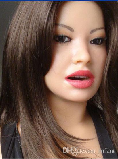 muñeca del sexo oral muñeca inflable Semi-sólida dollsex muñeca juguetes sexuales para hombres medias muñecas del amor de silicona, juguetes para adultos