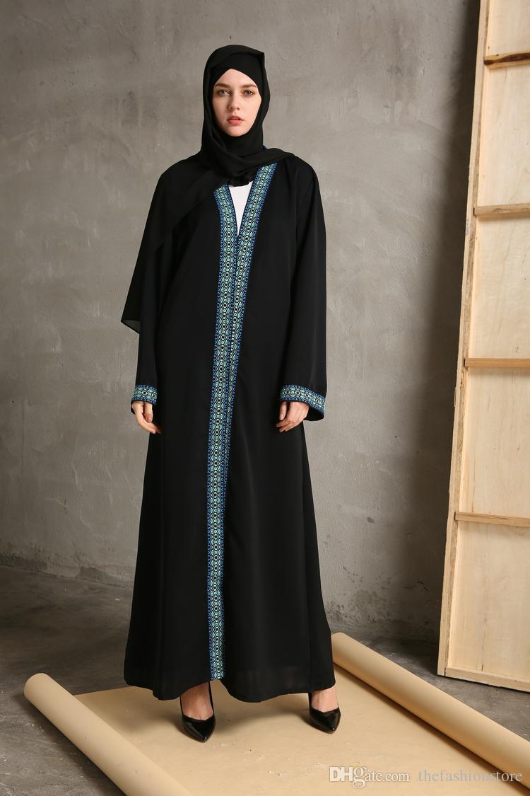 2018 2017 New Muslim Women Long Sleeve Maxi Cardigan Islamic ...