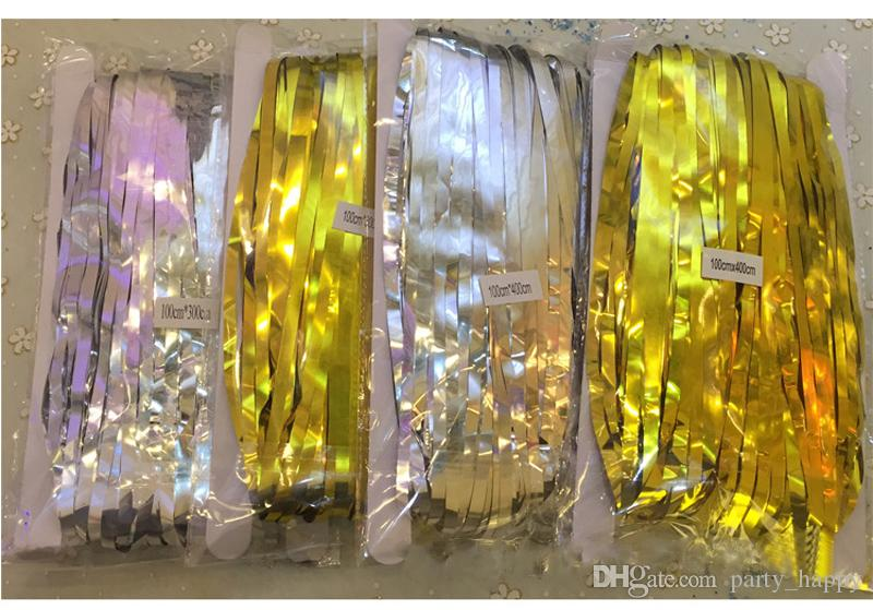 Manufacturer Spot Birthday Party Conference Setting Wall Layout Rain Curtain Wedding Decoration Foil Party Door Curtain