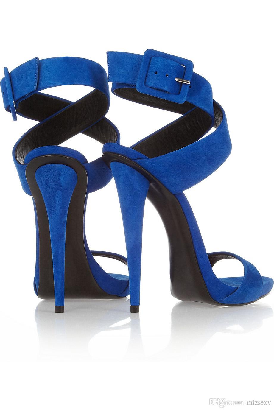 디자이너 2018 신사복 신발 샌들 엿봄 발가락 버클 크로스 묶인 하이힐 신발 여성 feminino melissa 여성 sandalia 파티 신발