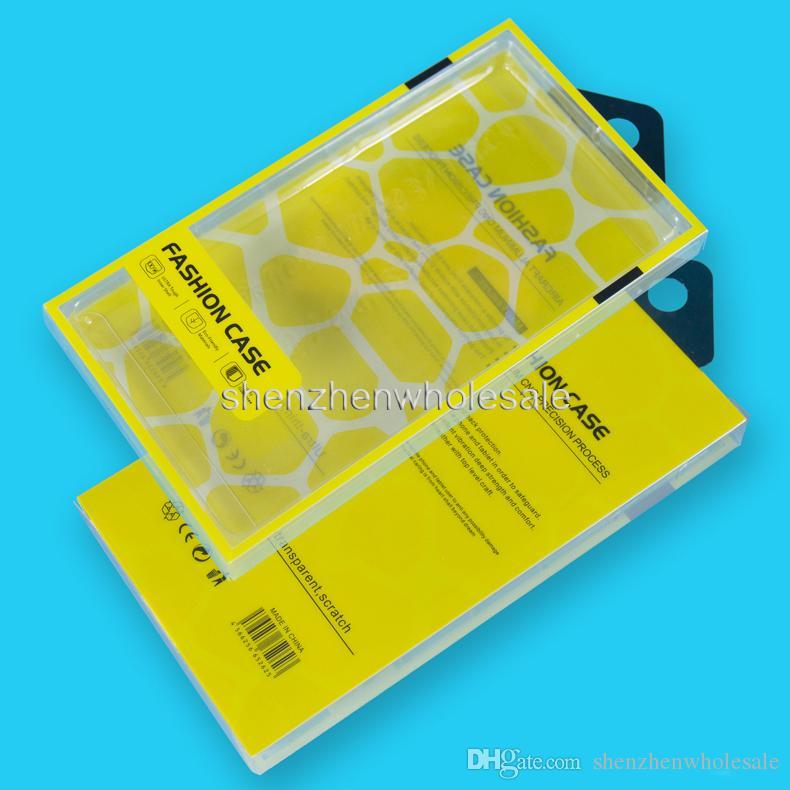 Caja de teléfono móvil universal Caja de embalaje al por menor de plástico PVC con inserción interna para la caja del teléfono celular Samsung HTC Fit 5.7 pulgadas
