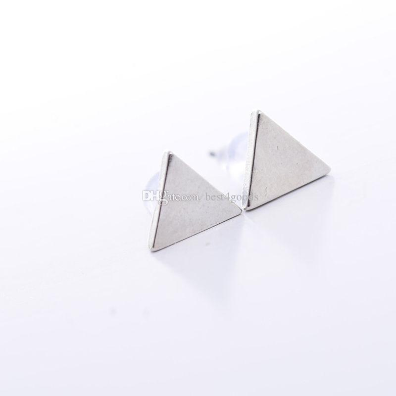 Women Lady Punk Style Simple Triangle Earring Street Style Ear Stud Earrings New