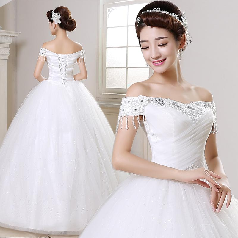 Wedding Gown Korean Style: 2016 New Ball Gown Wedding Dresses Korean Style Bride