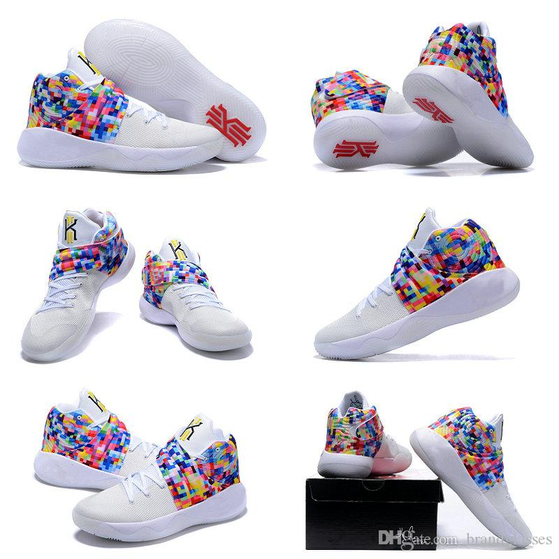 2016 Kyrie2 Air Zoom Kyrie Irving 2 MenS Basketball Shoes For Top Quality Irving2 Rainbow Cheap Sale Sports Training Sneakers Size 7 12 Running