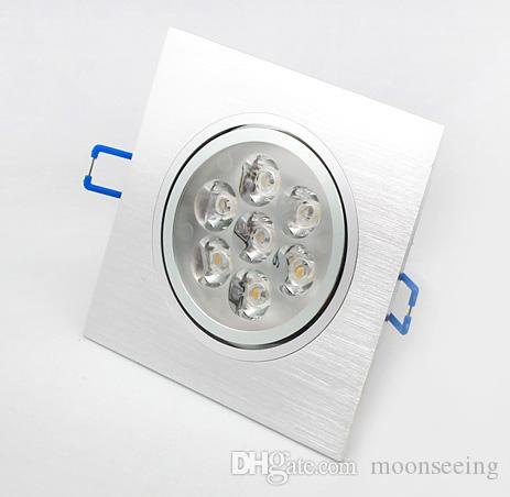 7W led ceilling light,dimmable led downlight, high power,Square wire drawing silver shell ,Warranty 2 year,SMDL-5-94