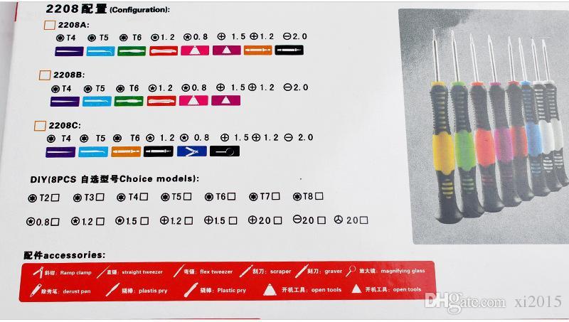 venta al por mayor 16 en 1 Herramientas de reparación Juego de destornilladores para teléfono móvil iPhone 6 5S 4S 3GS iPad Samsung