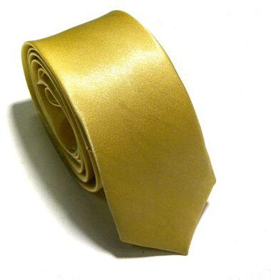 En gros / Nouveaux Hommes Maigre Couleur Unie Plaine Satin Cravate Cravate Cravate En Soie Cravate Noir Et Blanc Cravate En Soie Jacquard Tissé Cravate Cravates