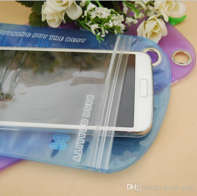 PVC Pudding waterproof bags pocket Universal seal pouch package storage Jewelry bag for iphone Samsung case Cable earphone battery New