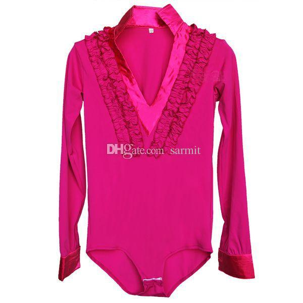 Latin Dance Shirt für Jungen Männer 5 Farben Erwachsene Kinder Größen D086 Samba Dance Kostüme Tango Samba Kostüm Tanz Kleidung Latin Shirts